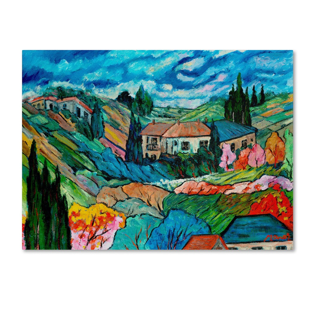 'Valley House' by Manor Shadian Ready to Hang Canvas Wall Art, Multi-Colored