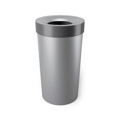 Umbra 16.5gal Woodrow Indoor Trash Can Gray/Steel
