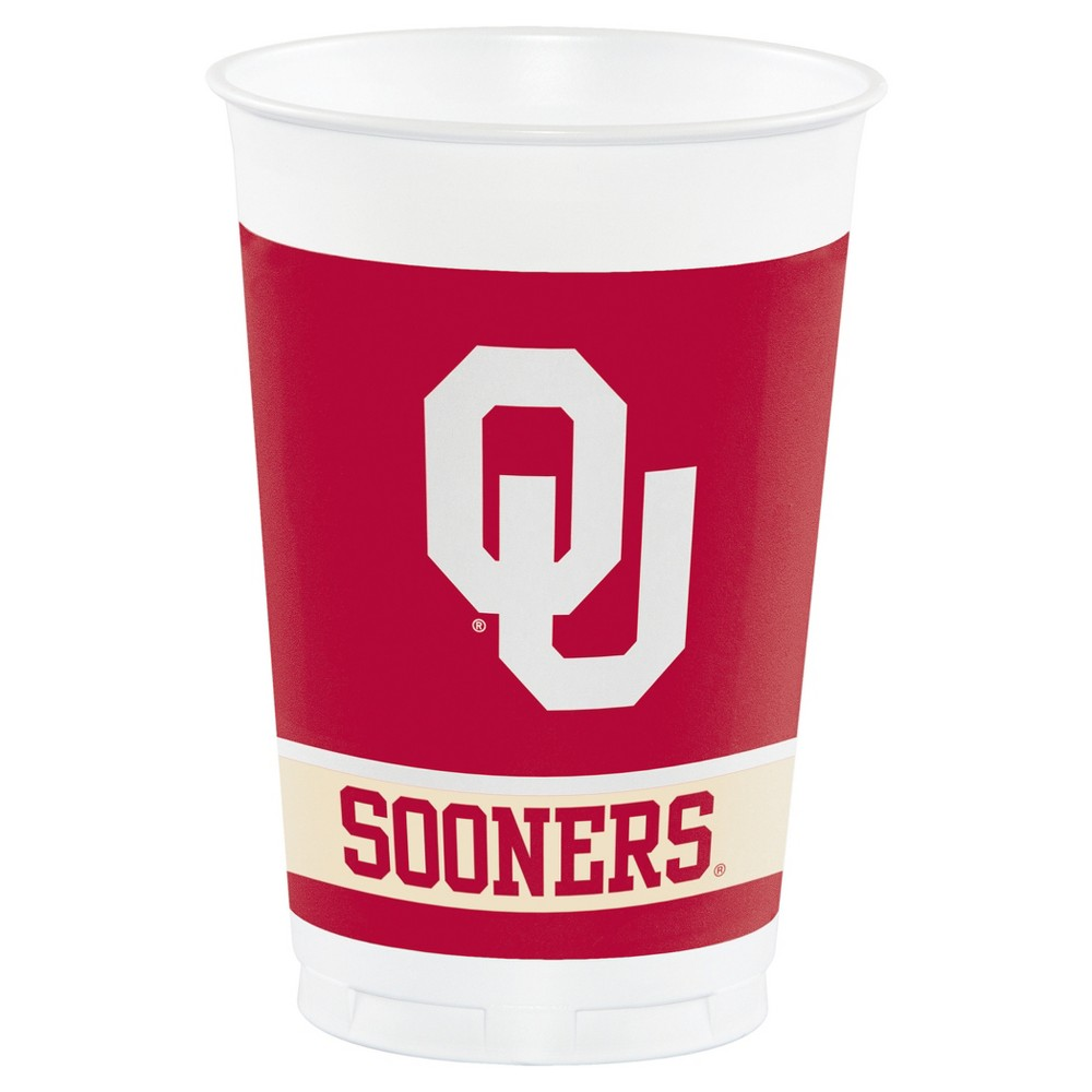 8ct University Of Oklahoma Sooners Plastic Cups