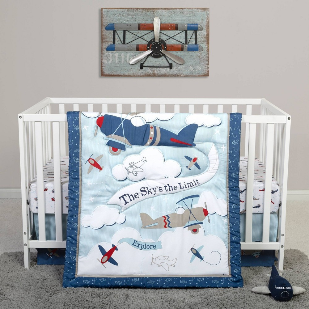 Image of Sammy and Lou Adventure Awaits Crib Bedding Set - 4pc