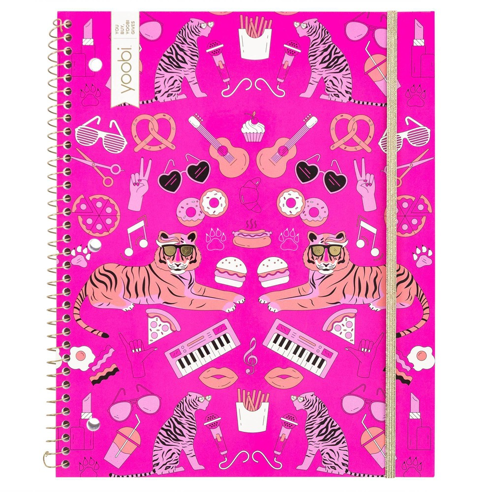 Image of 1 Subject College Ruled Spiral Notebook Pink - Yoobi