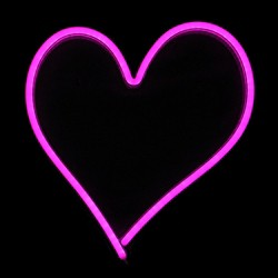 "Northlight 13.5"" Neon Style LED Lighted Valentine's Day Heart Window Silhouette Sign - Pink"