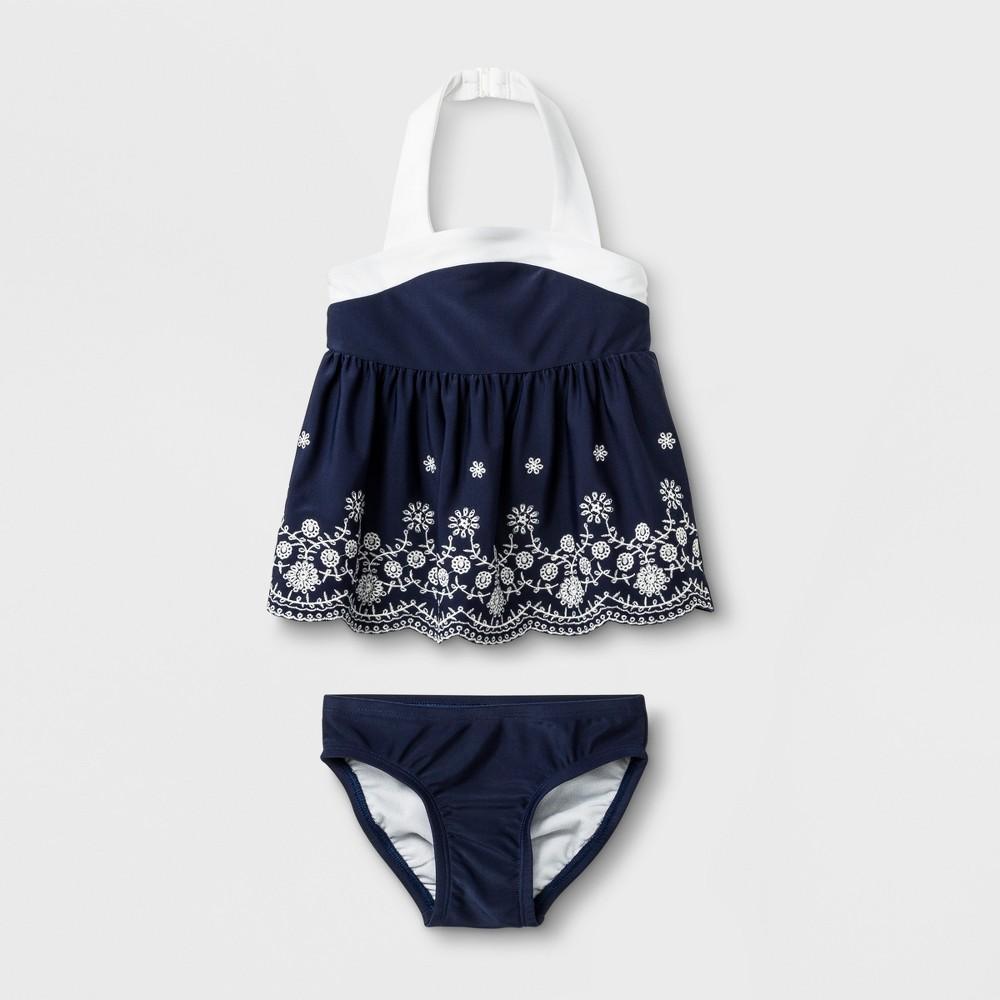 24c8311ee3 Baby Girls 2pc Tankini Cat Jack Navy 9M Blue