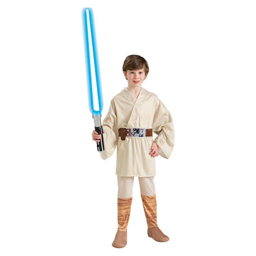 Image of Halloween Boys' Star Wars: The Force Awakens Luke Skywalker Costume M 7-8, Boy's, Size: Medium(7-8), White