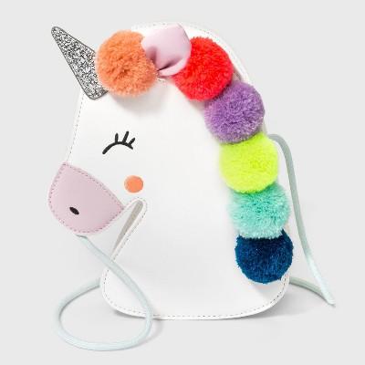 Kids' Pom Pom Unicorn Crossbody Bag - Cat & Jack™ White
