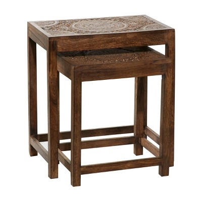 Mango Wood Eclectic Accent Table - Olivia & May