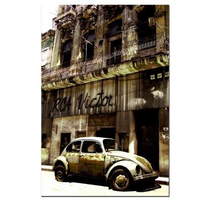 Trademark Fine Art 32  x 22  1956 Volkswagen Beetle Sedan' Canvas Art