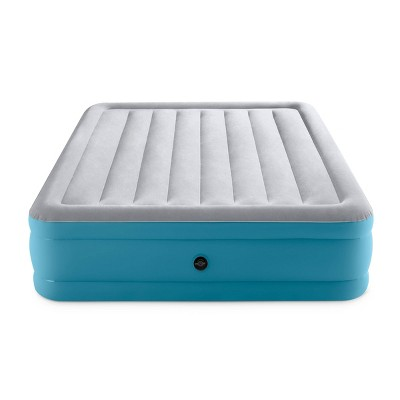 "Intex Raised 16"" Air Mattress with Hand Held 120V Pump - Queen Size"