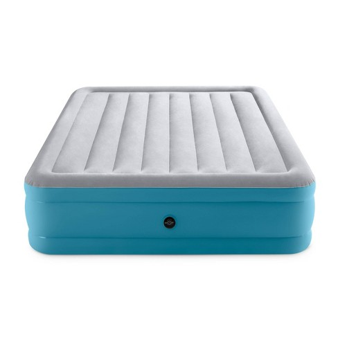 "Intex Raised 16"" Air Mattress with Hand Held 120V Pump - Queen Size - image 1 of 4"