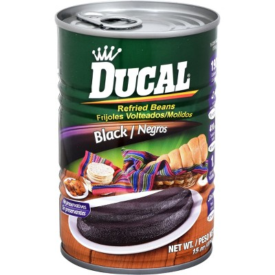 Ducal Black Refried Beans 15oz