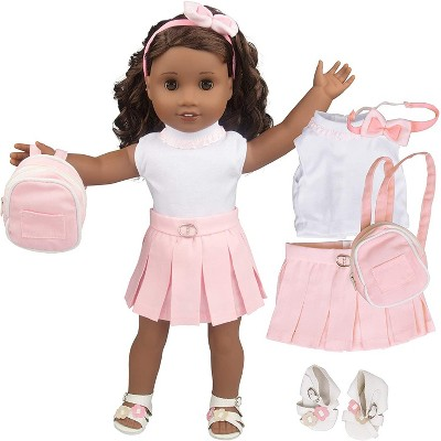Dress Along Dolly Casual School Outfit for American Girl Doll