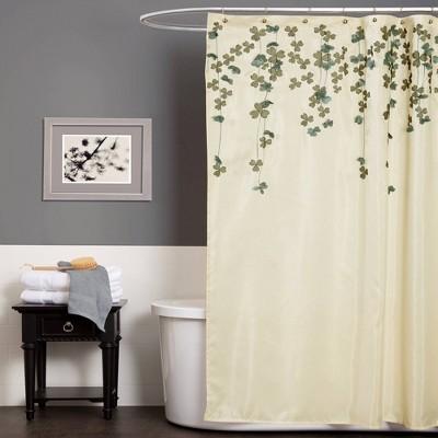 Flower Drops Shower Curtain Ivory - Lush Décor