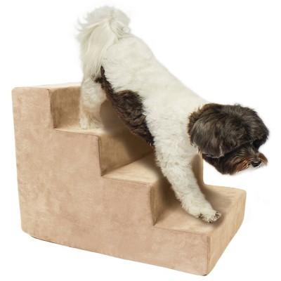 Precious Tails High Density Foam Steps Dog Stairs - Camel