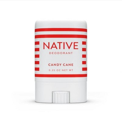 Native Limited Edition Holiday Candy Cane Mini Deodorant - Trial Size - 0.35oz