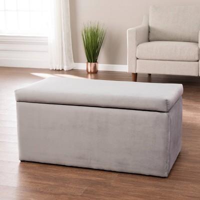 Hingdor Upholstered Storage Ottoman Gray - Aiden Lane
