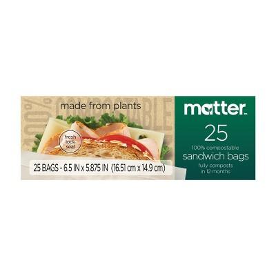 Matter 100% Compostable Sandwich Bags - 25ct