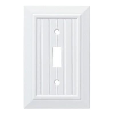 Franklin Brass Classic Beadboard Single Switch Wall Plate White
