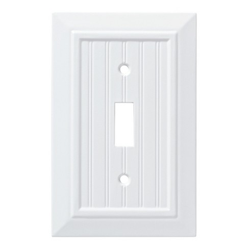 Classic Beadboard Single Switch Wall Plate White Franklin Brass