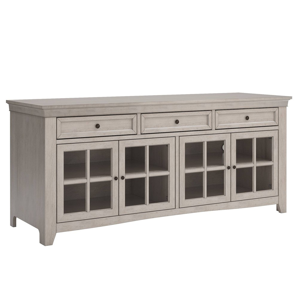 Martha 3 Drawer TV Stand Console Table White - Inspire Q