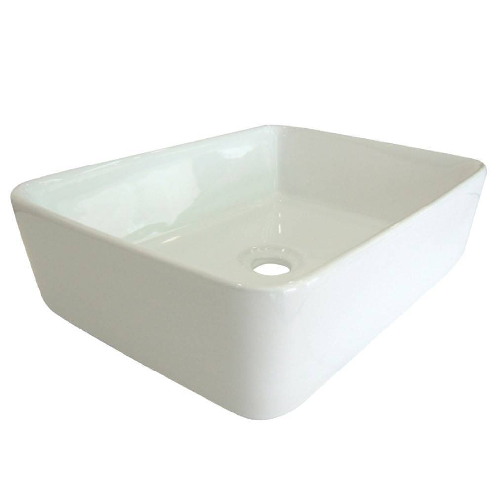 Image of Classic Vitreous China Vessel Bathroom Sink - Kingston Brass
