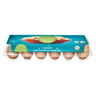 Organic Cage-Free Large Grade A Brown Fresh Eggs - 12ct - Simply Balanced™
