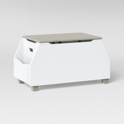 Kids Toy Box With Book Storage White   Pillowfort™ : Target