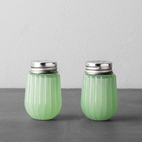 Glass Salt And Pepper Set - Green - Hearth & Hand™ with Magnolia - image 1 of 3