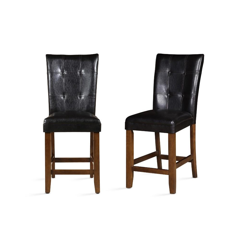 24 Cavett Counter Chair Set of 2 Cherry (Red) - Steve Silver