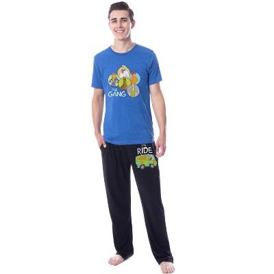 Scooby-Doo Mens' The Gang Ride Mystery Machine Pajama Set Shirt Pants