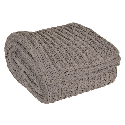 Ace Chenille Throw Blanket Gray - Décor Therapy