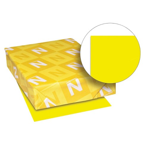 Neenah Pa Astrobrights Colored Card Stock, 65 lbs - Yellow (250 Sheets pk) - image 1 of 1