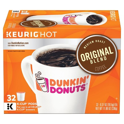 Dunkin' Donuts Original Roast Medium Roast Coffee - Keurig K-Cups - 32ct