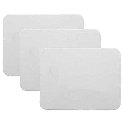 "3pk 9"" x 12"" Magnetic Dry Erase Boards 2-Sided Blank - Flipside"
