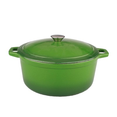 BergHOFF Neo 5 Qt Cast Iron Oval Covered Casserole, Green