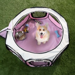 Petmaker Portable Pop-Up Dog Playpen with Carrying Bag