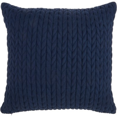 Life Styles Quilted Chevron Throw Pillow Navy - Nourison