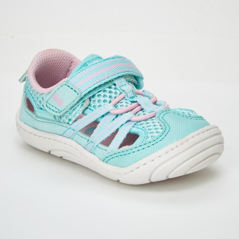 ae93d6bfb Baby Girls' Surprize By Stride Rite Charley Fisherman Sandals - Light Blue/ Pink : Target