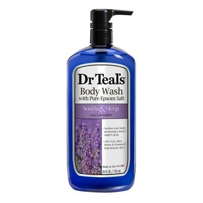 Dr Teal's Pure Epsom Salt Soothe & Sleep Lavender Body Wash - 24 fl oz