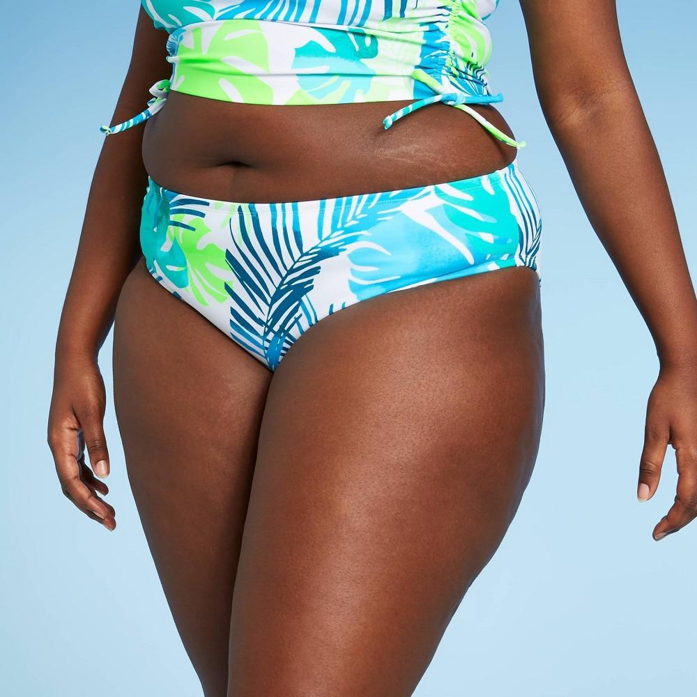 Juniors 39 Plus Size Cheeky Hipster Bikini Bottom Xhilaration 8482 Multi Leaf Print 20w 22w