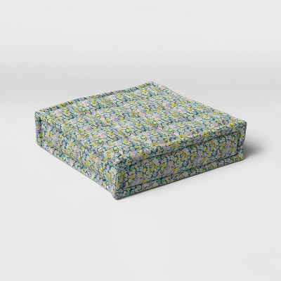 Floral Print Outdoor Floor Cushion DuraSeason Fabric™ Pink/Blue/Green - Opalhouse™