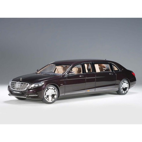 mercedes maybach s 600 pullman dark red metallic 1/18 model car