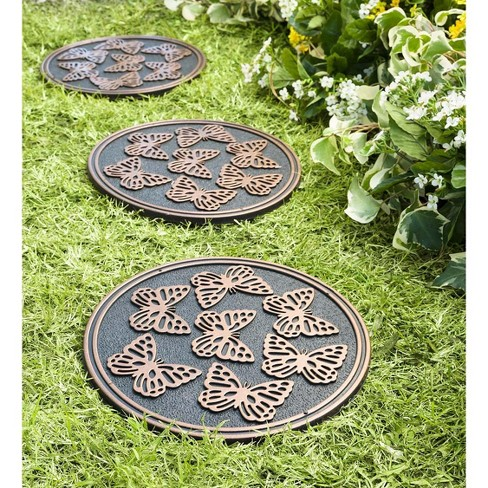 Recycled Rubber Garden Pathway Round Stepping Stones, Set of 3 - Plow & Hearth - image 1 of 2