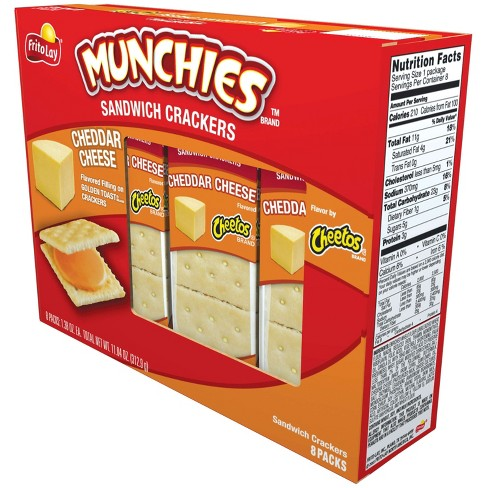 Frito Lays Munchies Cheddar Cheese Sandwich Crackers - 11.36oz/8pk - image 1 of 3