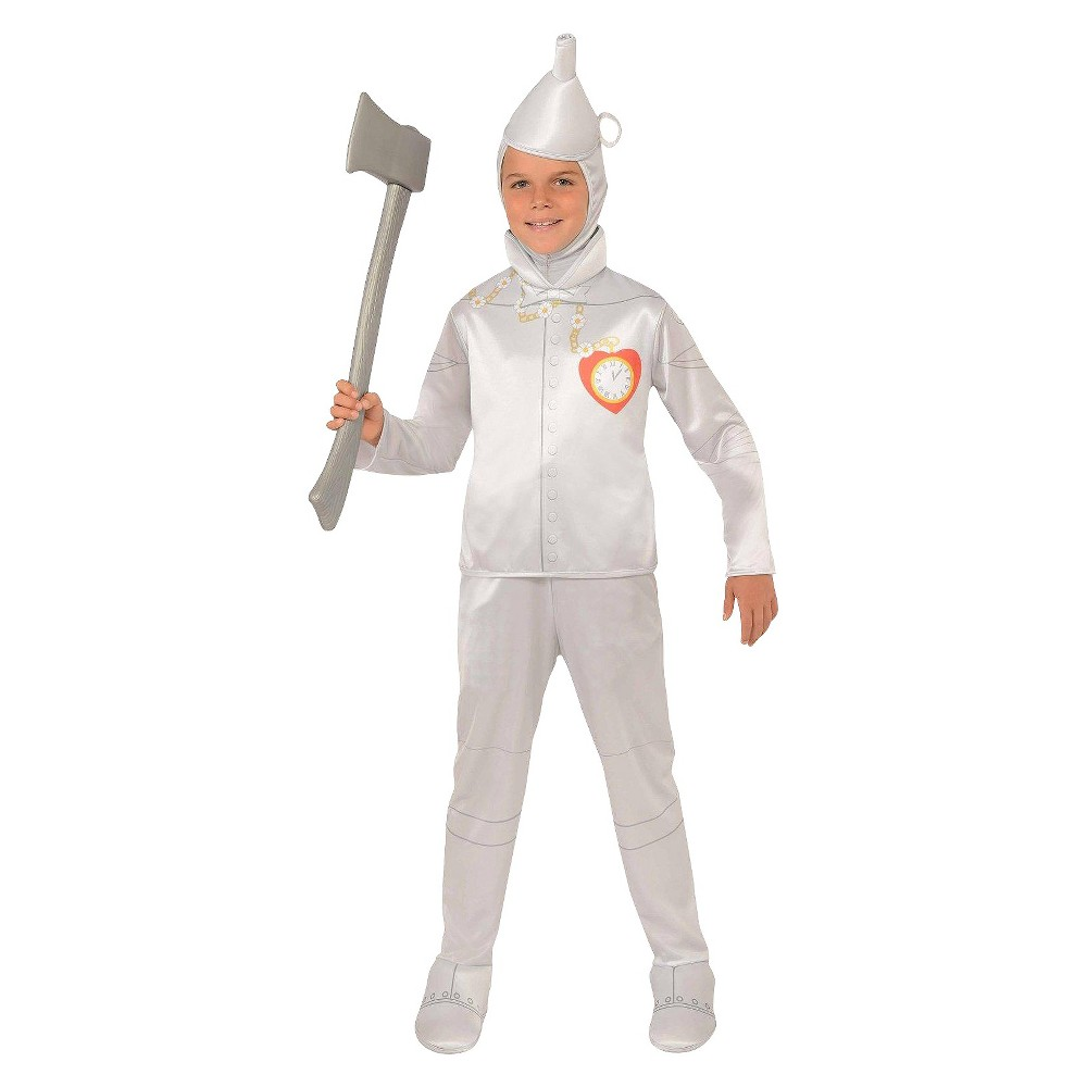 Halloween The Wizard of Oz Tinman Kids' Costume - Medium (8-10), Men's Standard/1-Size: clothing size 7 to 10XS: clothing size 2 to 4S: clothing size 4 to 6M: clothing size 8 to 10L: clothing size 12 to 14Husky: clothing size 7 to 10Pre to Teen: clothing size 11 to 14 Size: medium. Gender: male. Age Group: adult.