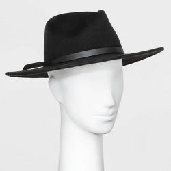 Women's Wide Brim Fedora Hat - Universal Thread™ Black One Size