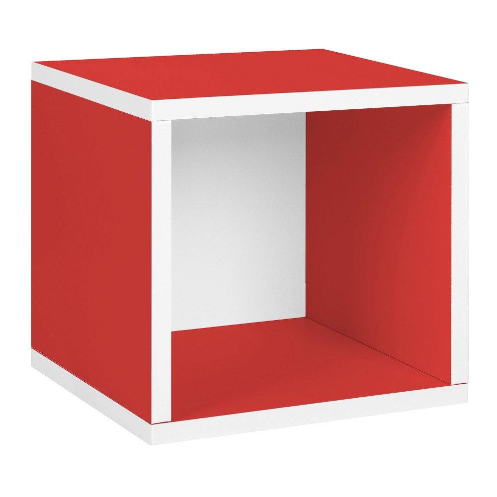 Way Basics Stackable Eco Cube Storage Cubby Organizer, Red - Formaldehyde Free - Lifetime Guarantee