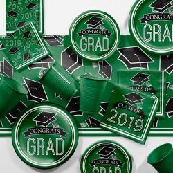 "129ct ""2019"" Graduation School Party Kit Green"