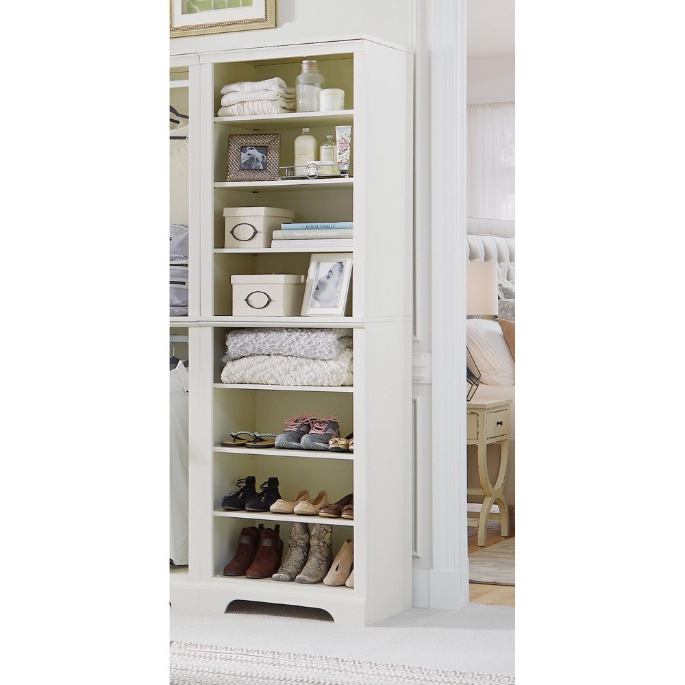 Naples Shelf Closet Wall Unit - White - Home Styles