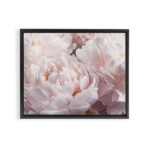 24 X 30 Magda Opoka Peony Cluster Framed Art Canvas Black Deny Designs Target