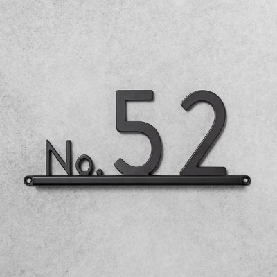 House Numbers Channel Bracket Black 3 Spaces - Hearth & Hand™ with Magnolia